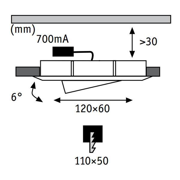 paulmann premium line led drilled alu duo fri fragt. Black Bedroom Furniture Sets. Home Design Ideas